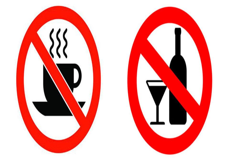 Chữa bệnh mất ngủ nên loại bỏ rượu và các chất kích thích như loại như nicotine và caffein