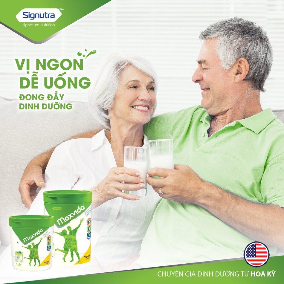 Sữa Maxvida sữa dinh dưỡng cho người cao tuổi