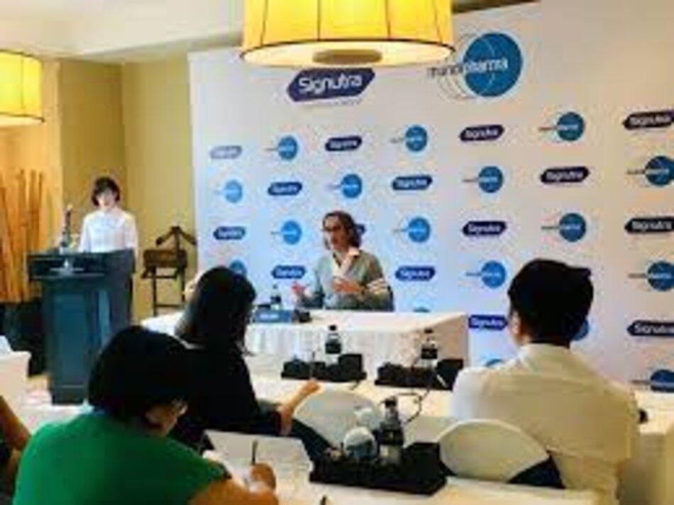 CEO Mundipharma, ông Raman Singh phát biểu về việc ra mắt ngành hàng dinh dưỡng Signutra™ tại Việt Nam